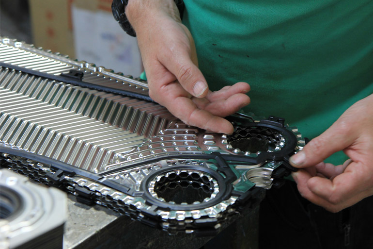 Gasket & plate assembly